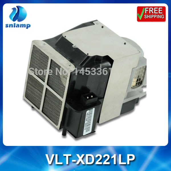 Compatible projector bulb lamp VLT-XD221LP with housing for SD220U XD221U replacement lamp bulb with housing vlt xd206lp for md307x md307s xd206u sd206u sd206