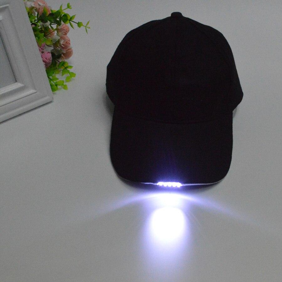 Besplatna dostava Crna LED Svjetiljka Hat Bike Biciklizam Caps Noćno - Ribarstvo - Foto 2