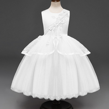 AmzBarley Toddler Girls Tutu Dress Embroidery Floral Ball Gown kids Lace formal dresses princess wedding party outfits clothes недорого