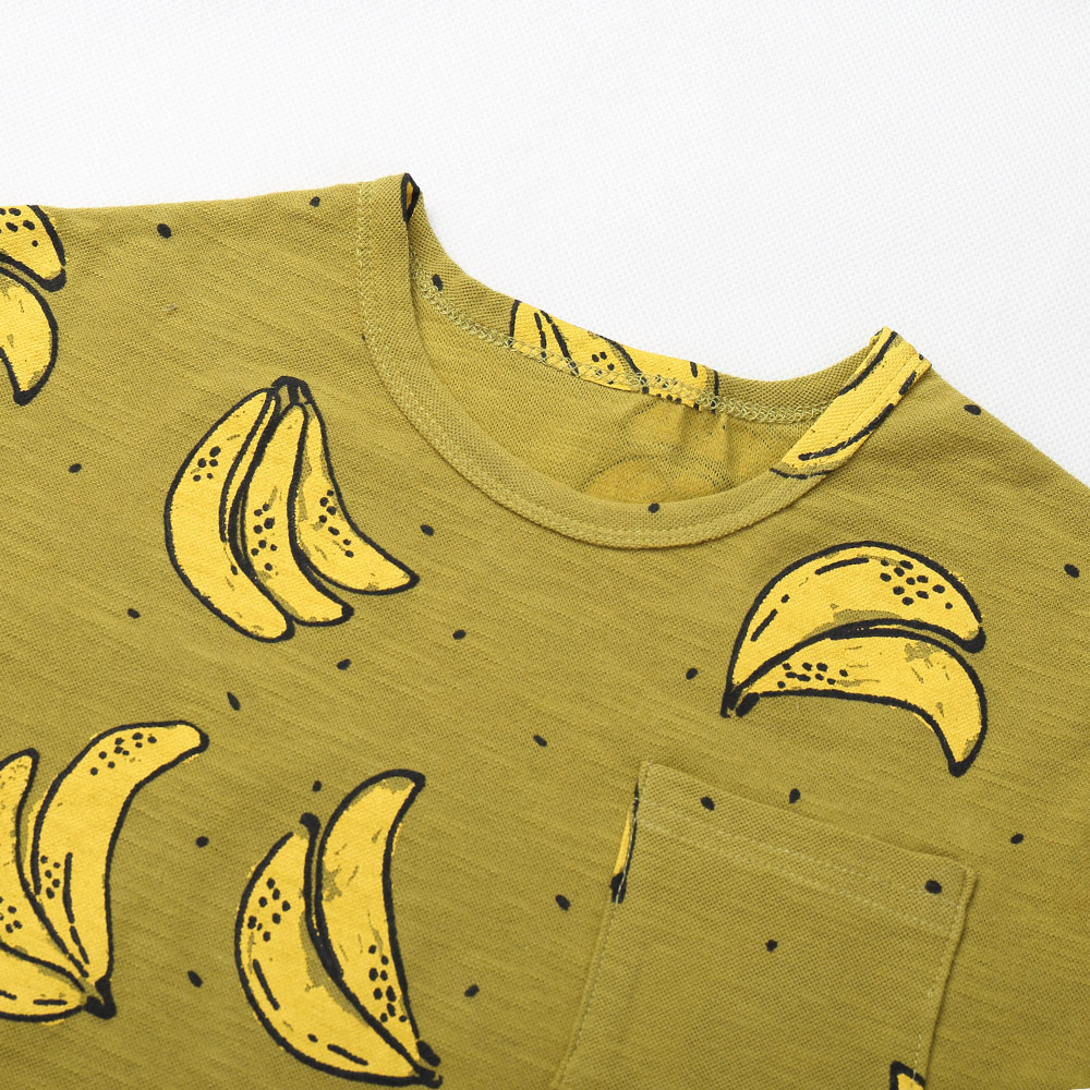 05242cd48836 Μόδα Μπανάνα Τυπωμένο T Shirt Για αγόρι Βαμβάκι Παιδικά μπλουζάκια ...