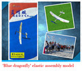 Упругие diy сборки модели самолета игрушки учебного оборудования