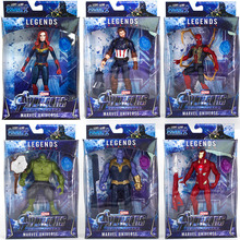 Marvel Avengers Infinity War Thanos Iron Spider Captain America Black Panther Hulk Hulkbuster Action Figures Super Heroes Toys avengers infinity war iron man captain america spiderman hulk black panther thanos pvc figures toys 6pcs set