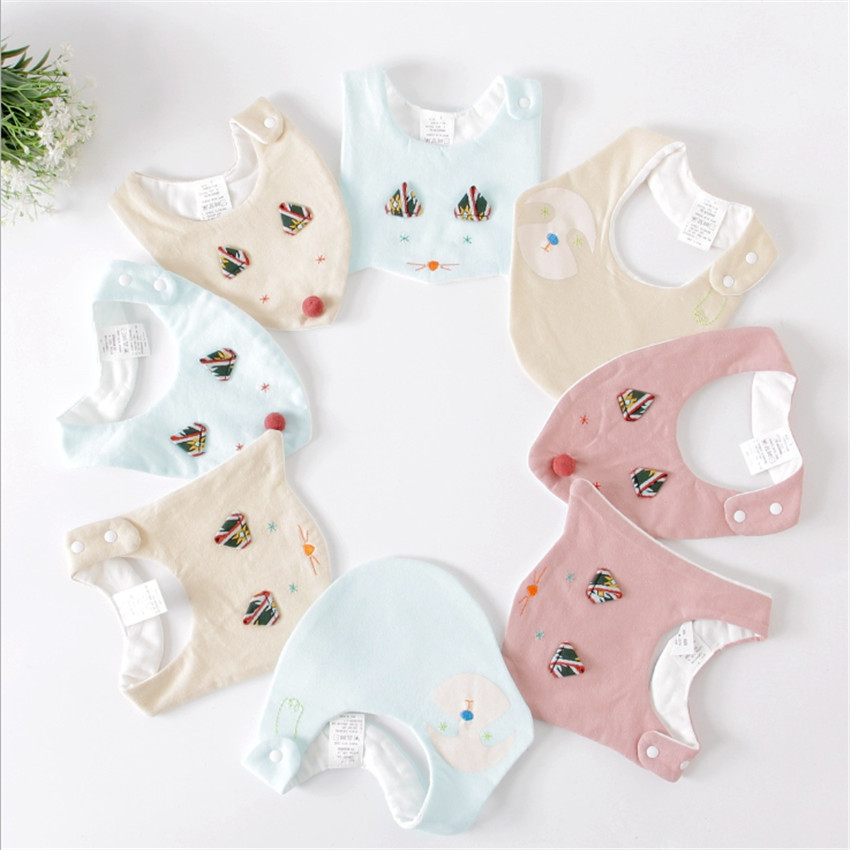 Cute Baby Bibs Waterproof Apron Children Feeding Smock Bib Burp Clothes Soft Eat Toddler Baberos Bavoir Clothing for boys cotton