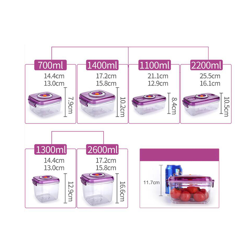 OLOEY  Vacuum Containers Fresh Can Damp Proof Tea Pot Food Container Seal Pot Vacuum Sealer Pots For Seal Foods
