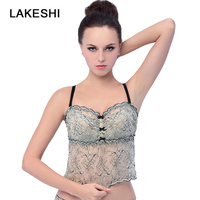 Women Shirt Mike Strap Elegant Crop Top Sexy Crochet Lace Cami Female Sleeveless Shirts Summer Tank