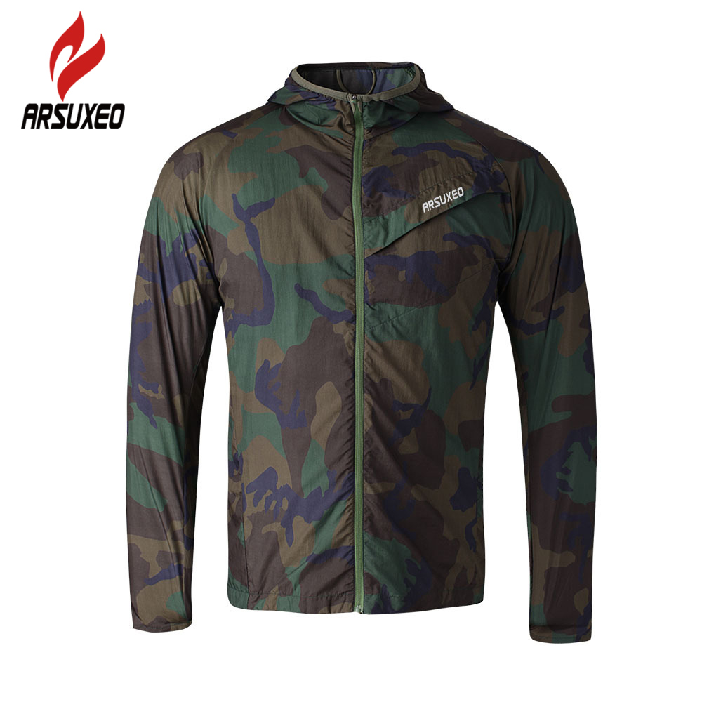 ARSUXEO Sports Men cycling bike running coat raincoat jersey ultralight camouflage workout Jacket Pack Cycling Clothing coat PFY wosawe waterproof cycling jersey cycling rain jacket wind coat bicycle clothing ciclismo mtb bike cycle raincoat