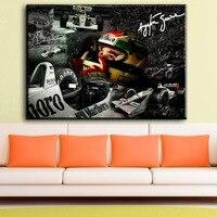 ZZ981 Ayrton Senna Da Silva F1 Racer Art Canvas Poster Print Sports Pictures For Living Room