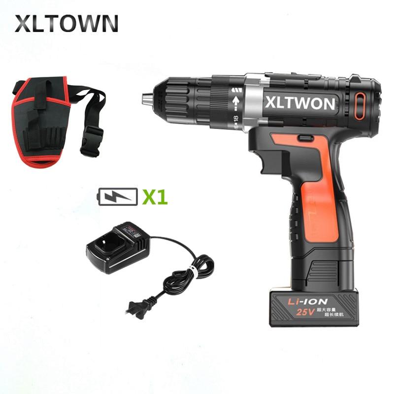 Xltown 25 v deux vitesses batterie au lithium perceuse électrique maison haut de gamme tournevis électriques boutique outils électriques livraison gratuite