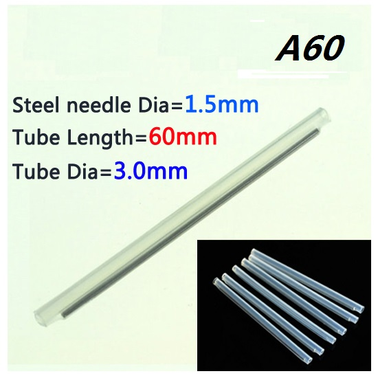 1000pcs Larger Fiber optic fusion splice protection sleeve VD A60 OD 3 0mm L 60mm Heat