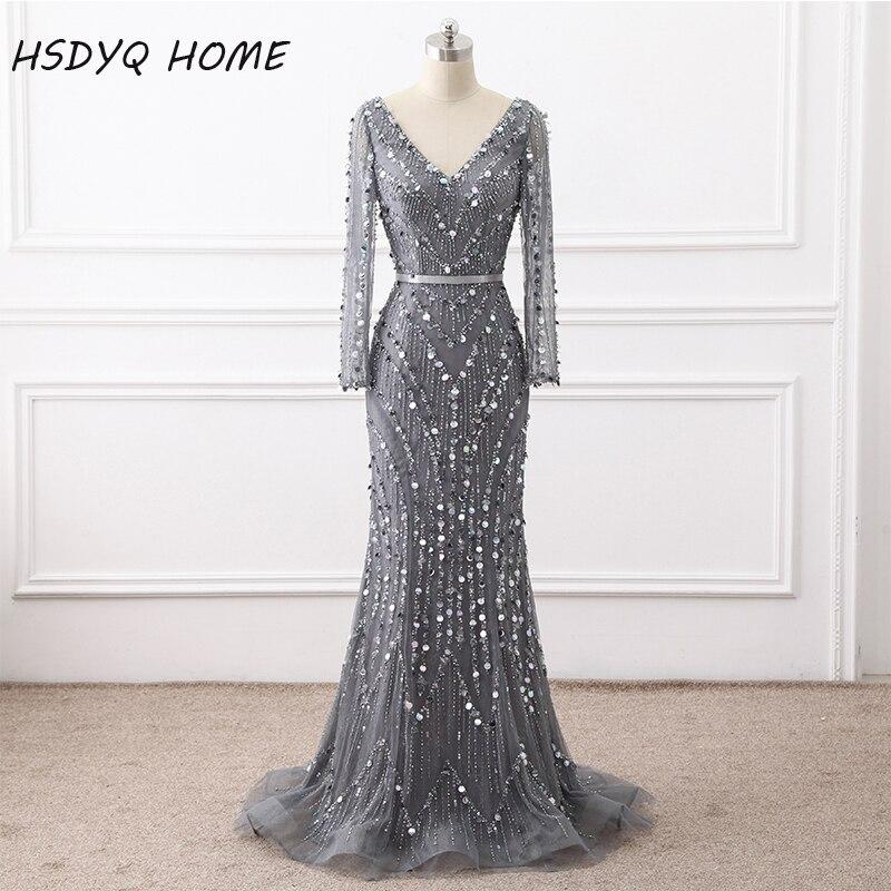 Luxury Evening dresses Real photo Heavy Beading Handmade Mermaid ...