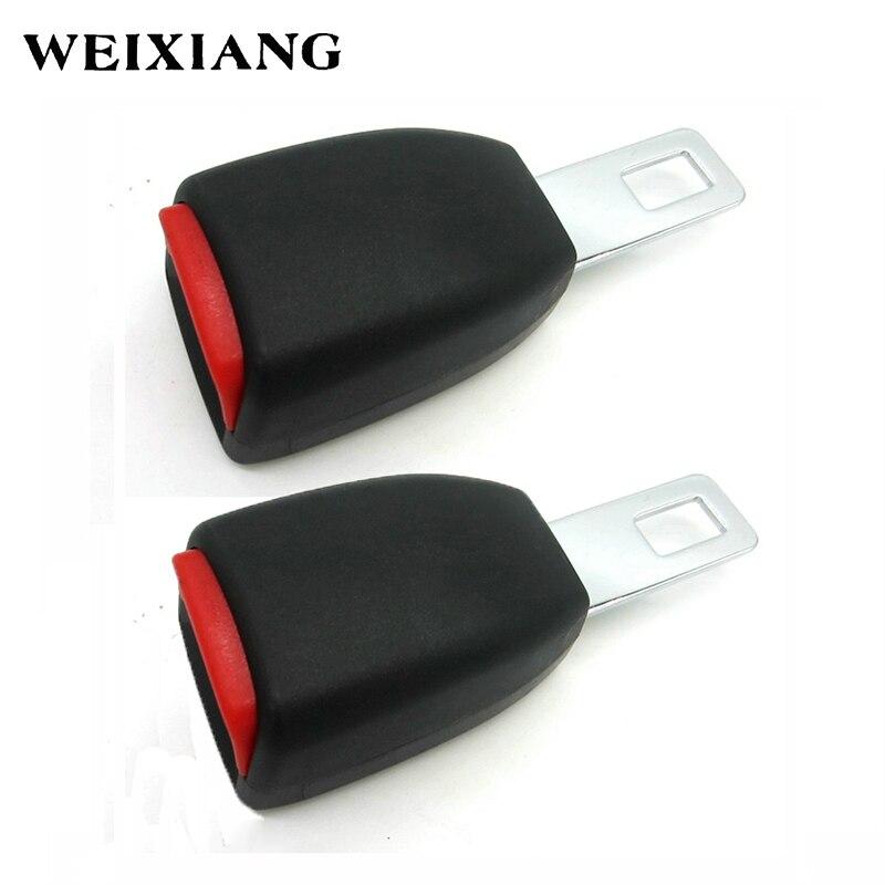 E24 2 x Car Seat Belt Clip Extender Safety Belts Extension Safebelt Extended Buckle For Child - 24.5mm Camlock Black