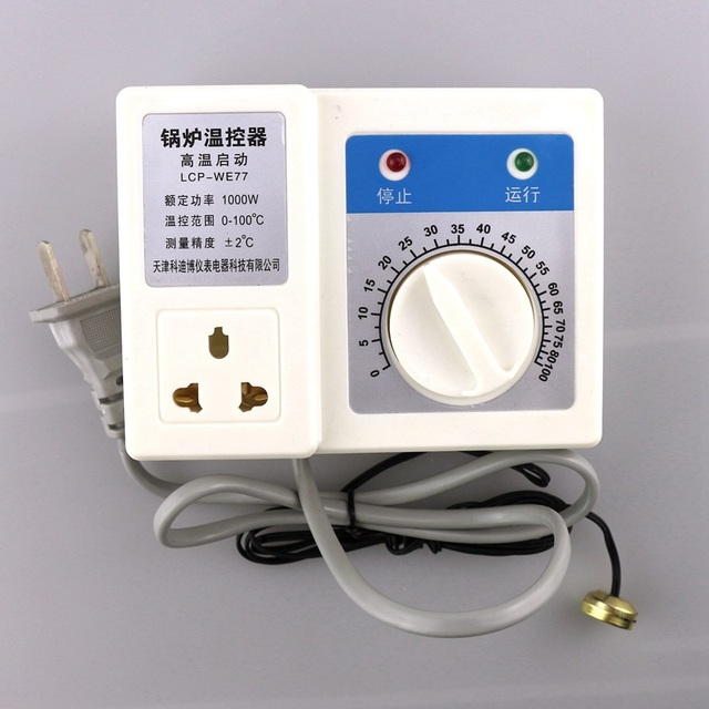 1000W 220V Boiler Circulating Pump Thermostat Temperature Controller ...