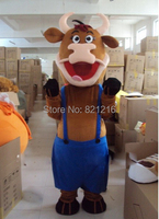 New Bull Ox Cow Mascot Costume Fancy Dress Outfit Free Shipping