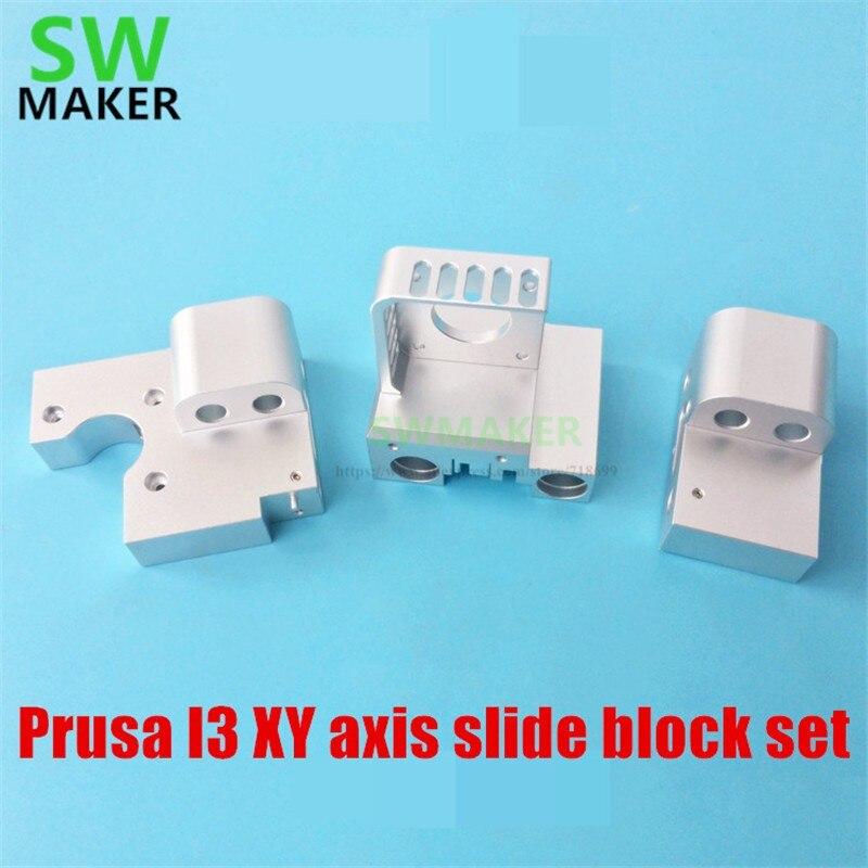 prusa i3 anet eixo xy slide bloco set todos metal eixo x titan aero transporte suporte