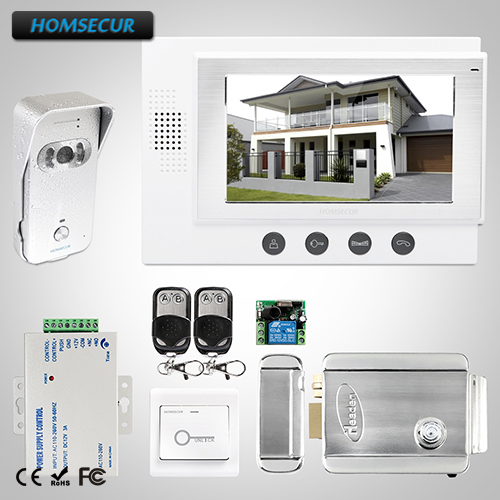 HOMSECUR 7 Wired Hands-free Video&Audio Home Intercom+One Button Unlock : TC021-S Camera(Silver)+TM701-W Monitor(White)HOMSECUR 7 Wired Hands-free Video&Audio Home Intercom+One Button Unlock : TC021-S Camera(Silver)+TM701-W Monitor(White)