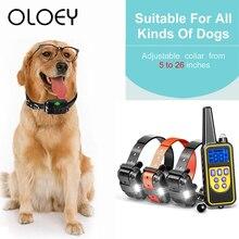 800m Electric Dog Training Collar All Size Shock Vibration Sound Waterproof Remote Control 3 Training Collars Anti-bark Device цена
