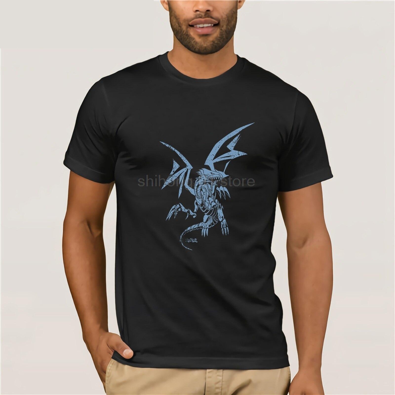 2019 Hot Koop 100% Katoen Yu-gi-oh! Mannen Blauwe Ogen Witte Draak T-shirt Tee Shirt Minder Duur