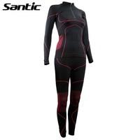 Santic Cycling Jersey Women Long Sleeve Breathable Sport Downhill Bicyce Underwear Road Mountain Bike Jersey Clothing