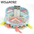 WELLMORE 2017summer BOHO bracelets & bangles Handmade bohemian Beads  bracelets for women manchette have S/M/L size B1645