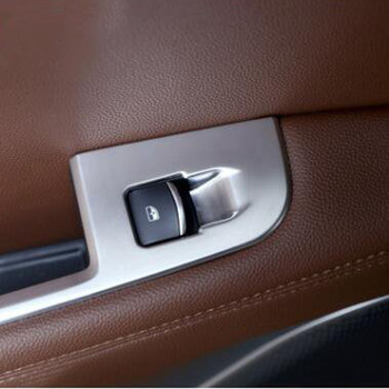 For Alfa Romeo Stelvio 2017-2018 4PCS ABS Chrome Car Matte Silver Door Armrest Window Glass Cover Trim Car Styling Accessories