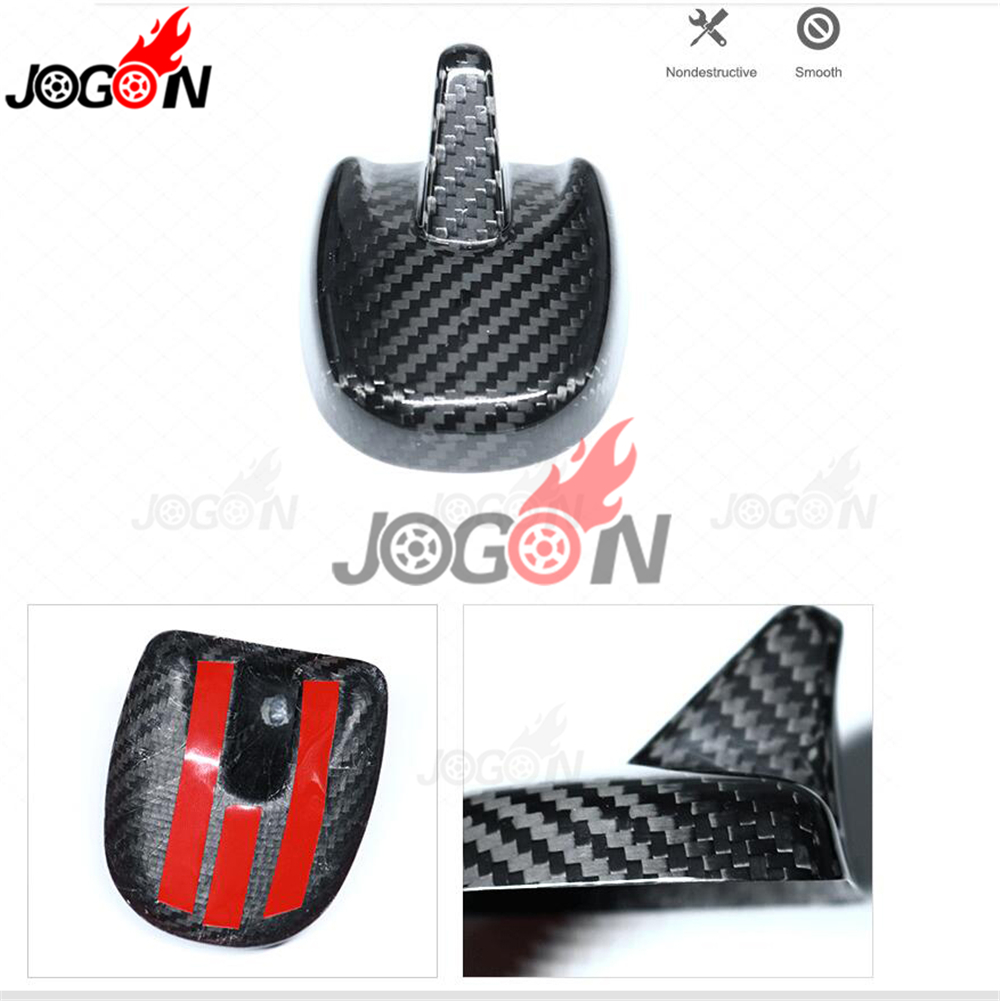 Real Carbon Fiber Roof Shark Fin Antenna Cover Trim For Ford Mustang 2015-2019