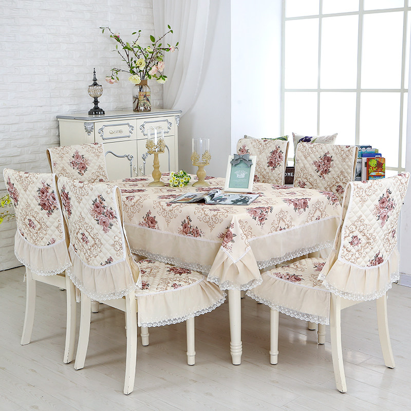13pcs/Set Rectangular Tablecloth and Dining Chair Covers Dust Proof Home Decoration toalha de mesa Wedding Table Chair Covers 13pcs/Set Rectangular Tablecloth and Dining Chair Covers Dust Proof Home Decoration toalha de mesa Wedding Table Chair Covers