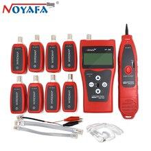 NOYAFA NF-388 رصد شبكة إيثرنت مكتشف محدد سلك كابل تستر المقتفي التتبع Lcd RJ45 RJ11 BNC USB الهاتف أداة عدة