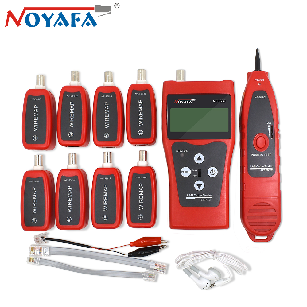 NOYAFA NF 388 Monitor Network Ethernet Finder Locator Cable Wire Tester Tracker Tracer Lcd RJ45 RJ11 BNC USB Telephone Tool Kit-in Networking Tools from Computer & Office    1