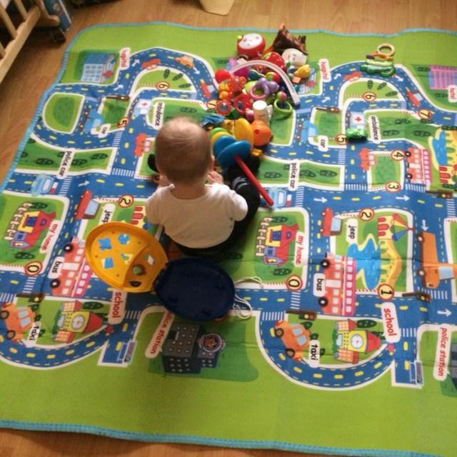 200cm Foam Play Mat Baby Crawling Child Picnic Carpet Floor Indoor Outdoor