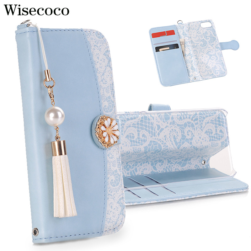 Luxury Japan Tassel Pearl Flip Case for Iphone X 8 7 6 6S Plus Xs Max Xr Magnetic Wallet Leather Card Slot Stand 360 Book Cover Flip Cases     - title=