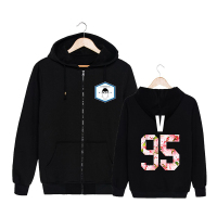 KPOP Korean BTS 2th Album WINGS Bangtan Boys HipHop Monster Cotton Zipper Hoodies Clothes Zip