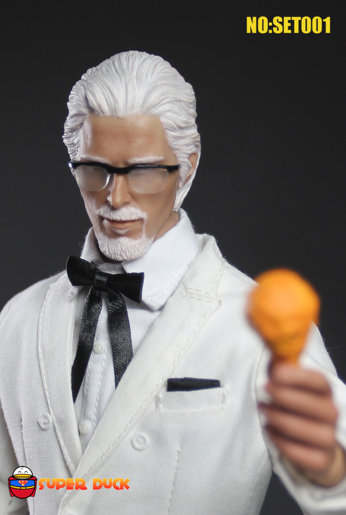 1/6 scale figure doll Fried chicken Grandpa white hair Christian Bale 12 action figure doll Collectible Figure Model . No box футболка neff fried chicken black