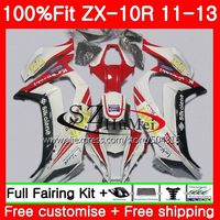 Injection For KAWASAKI NINJA White Red ZX 10 R ZX10R 19SH22 ZX 10R 11 12 13
