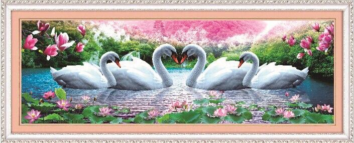 5d 3d diy diamant borduurwerk kristal schilderen bloem zwanen liefde - Kunsten, ambachten en naaien