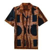 AOWOFS בציר גודל גדול גברים חולצות אפריקאי בטיק מסורתי אפריקה בגדי גברים חולצה שרוול קצר בסגנון אתני Bazin תלבושות