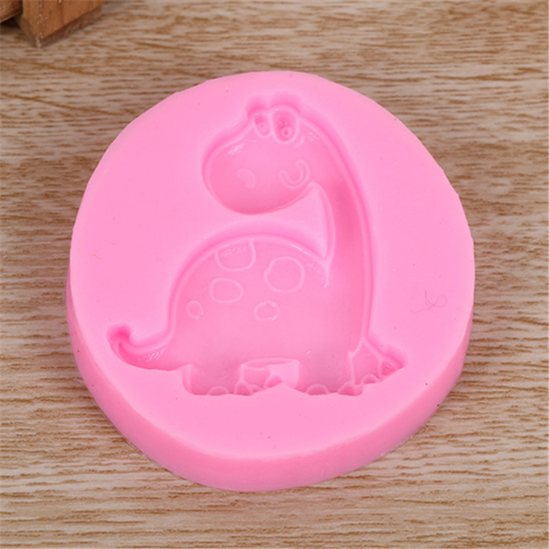 6ed05c66c286a5 Cartoon Dinosaur Dragon Silicone Fondant Soap 3D Cake Mold Cupcake Jelly Candy  Chocolate Decoration Baking Tool