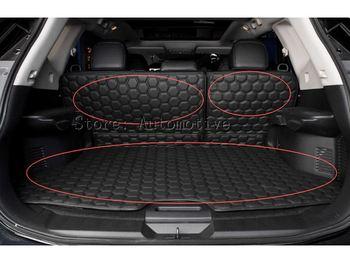 3p black PU rear trunk Pad cover carpet mats for Nissan x-trail   Rogue   2014 2015 2016 2017