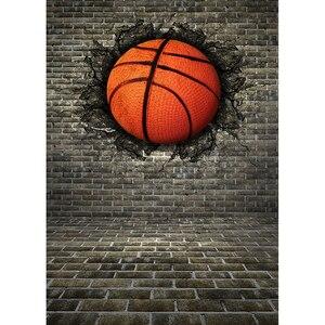 Image 2 - Allenjoy כדורסל רקע photophone 3D אפור לבני קיר ילד פעילות סדק רחוב צילום תפאורות צילום סטודיו