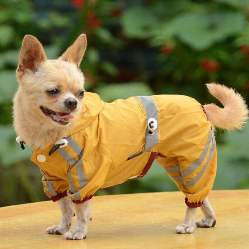 Buono Nuovi Cani Impermeabile Vestiti Glisten Luce Bar Impermeabile Pet Vestiti Cappotto Di Pioggia Giacca Vita Regolabile Impermeabile Per Cani 20s2