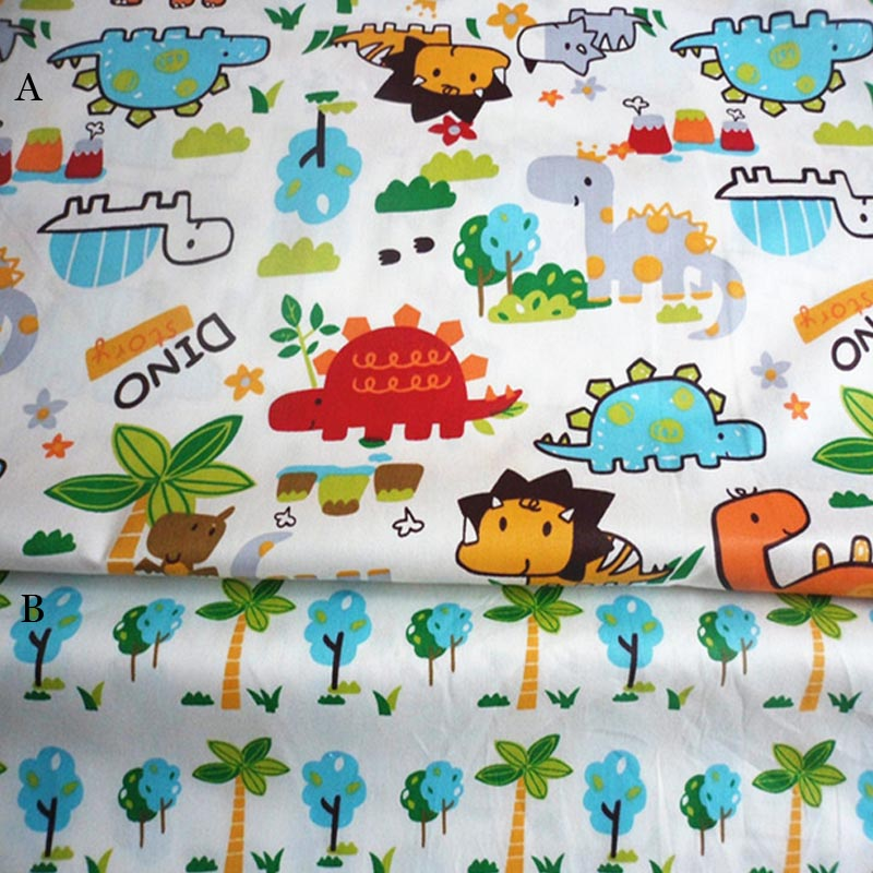 Online get cheap dinosaur fabric alibaba for Dinosaur fabric