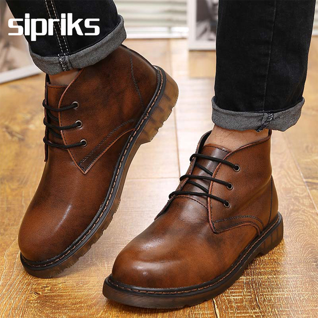 2016 Luxury brand mens ankle boots vintage japanese leather mens ...