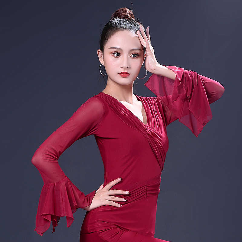 256293f72620 Detail Feedback Questions about Adult Latin Dance Tops Female Lotus ...