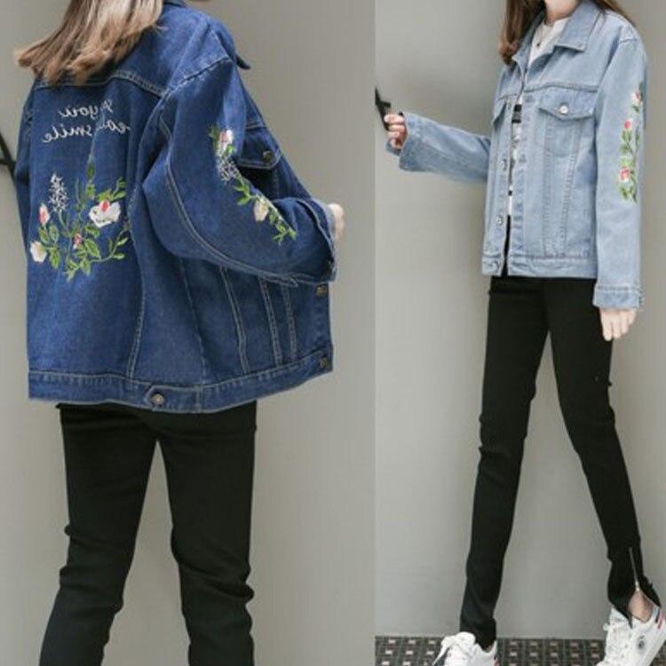 2019 Hot Fashion Womens Denim Jackets Slim Jeans Coat Casual Long Sleeve Vintage Outwear Spring Top Short Female Coats