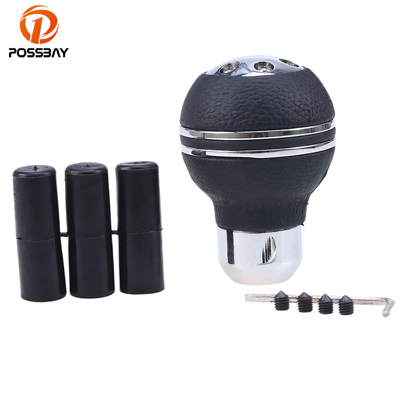 Round Silver 6-speed MT Manual Lever Gear Shift Knob Stick Shifter For Jeep