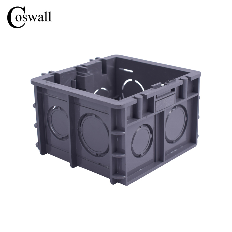 coswall-high-strength-mounting-box-internal-cassette-82mm-76mm-50mm-for-86-type-switch-and-socket-black-wiring-back-box