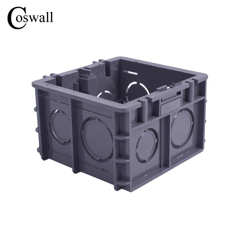50mm Für 86 Typ Schalter Und Buchse Coswall Hohe Festigkeit Montage Box Interne Kassette 82mm Schwarz Verdrahtung Back-box 76mm
