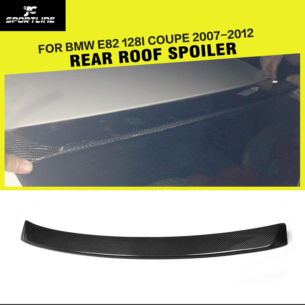 Carbon Fiber Auto Roof Spoiler Wing for BMW 1 Series E82 120i 130i 135i Coupe & Convertible 2-Door 2008-2013