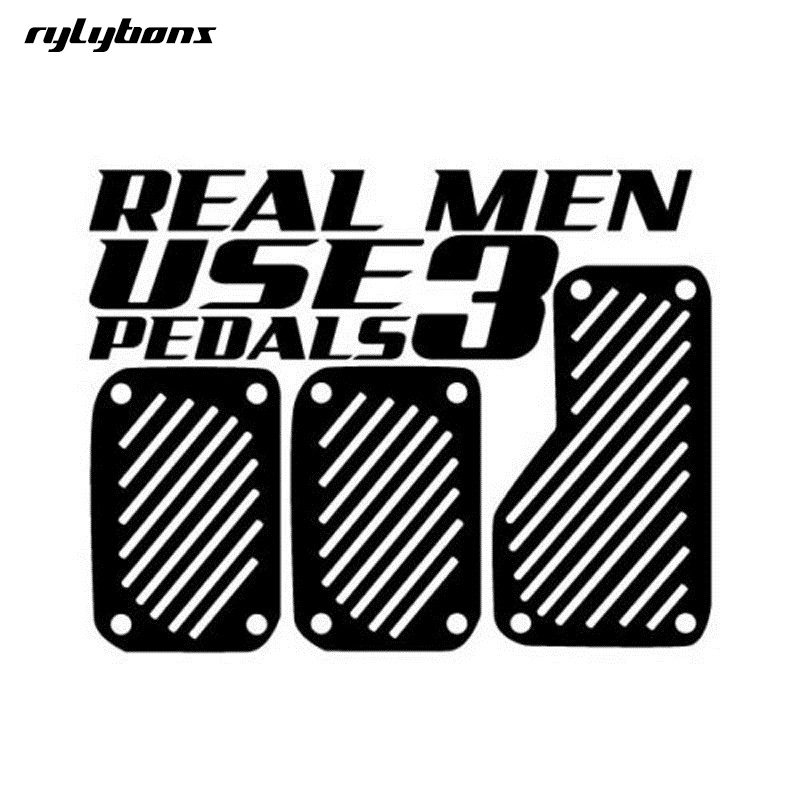 rylybons The 2nd Half Price stickers REAL MEN UES 3 PEDALS Car Styling Sticker Funny Vin ...