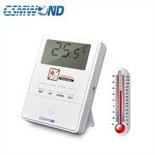 GSMWOND كاشف درجة الحرارة اللاسلكية 433MHz الاستشعار إنذار دعم إنذار درجة الحرارة العالية والمنخفضة لنظام إنذار المنزل لدينا