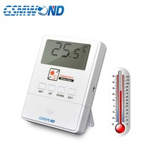 GSMWOND Detector de temperatura inalámbrico, Sensor de alarma de 433MHz, compatible con Alarma de alta y baja temperatura para nuestro sistema de alarma de casa